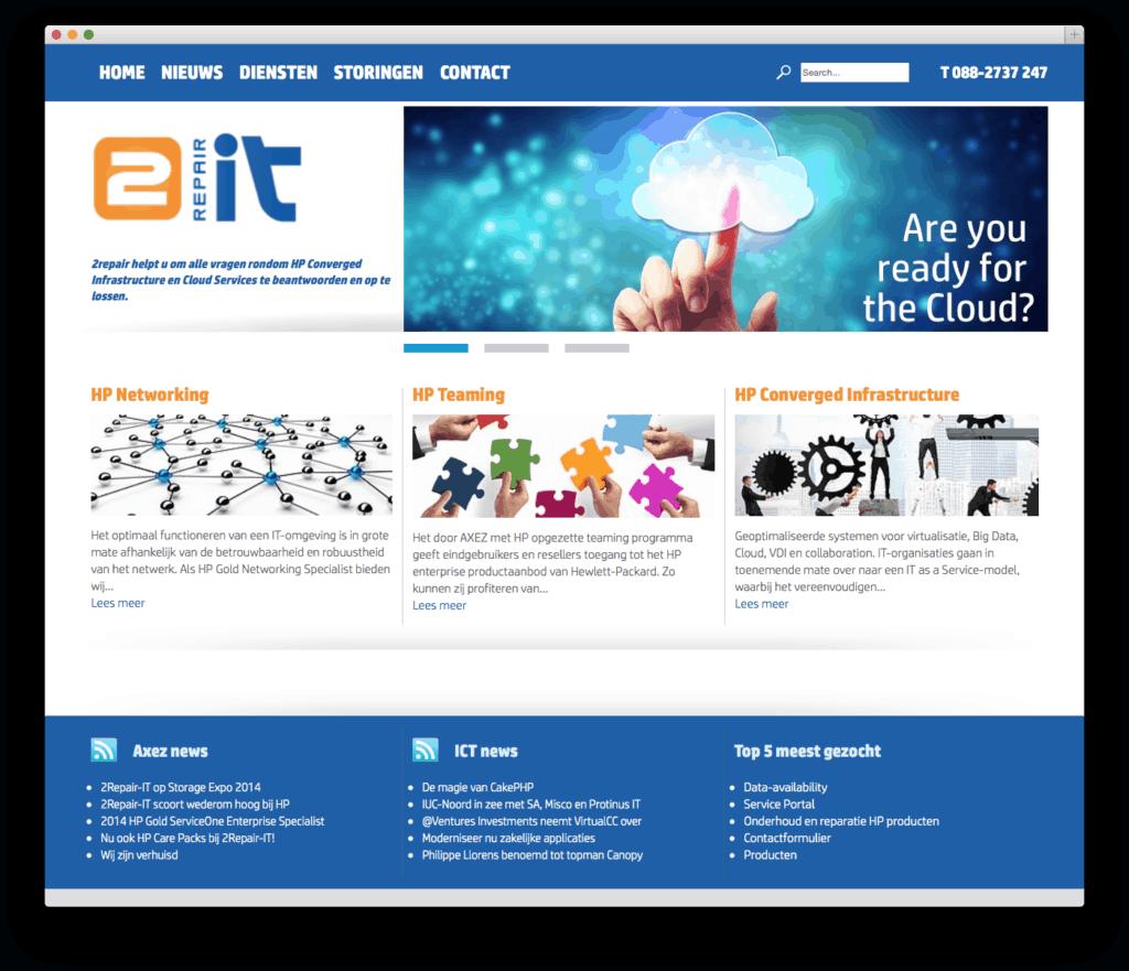 2Repair-IT website voorbeeld