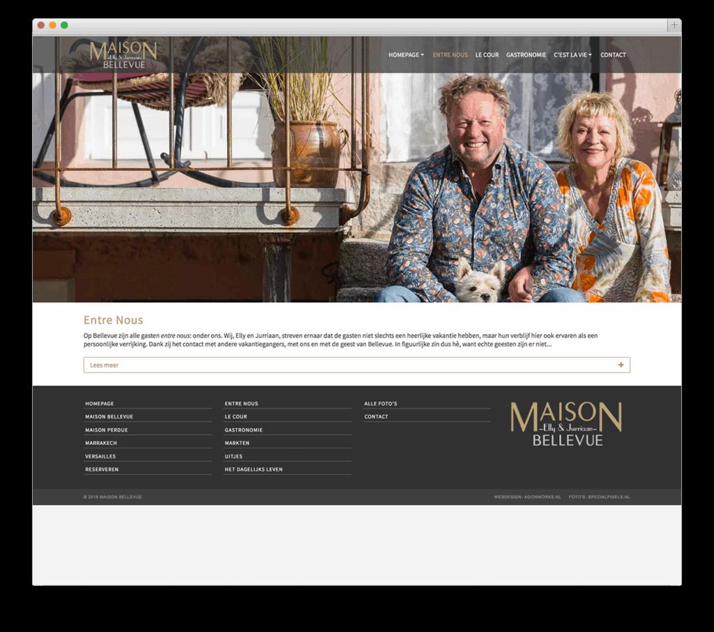 Maison Bellevue website voorbeeld