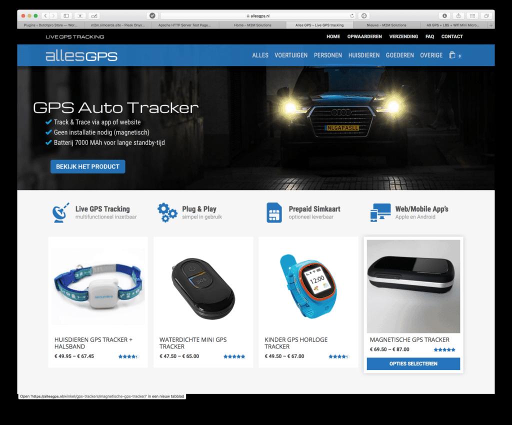 Alles GPS website voorbeeld