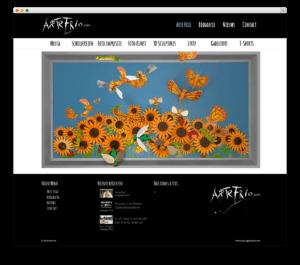 Arte Frio website voorbeeld