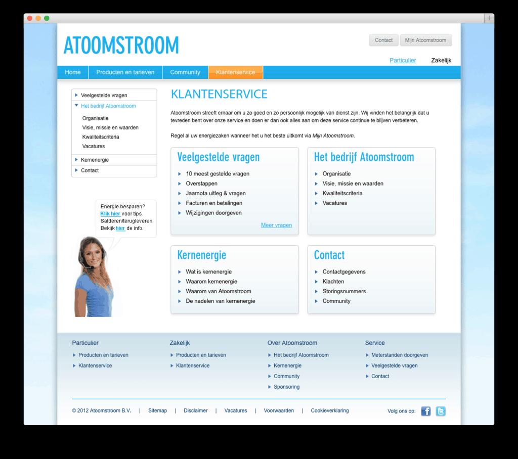 Atoomstroom website voorbeeld