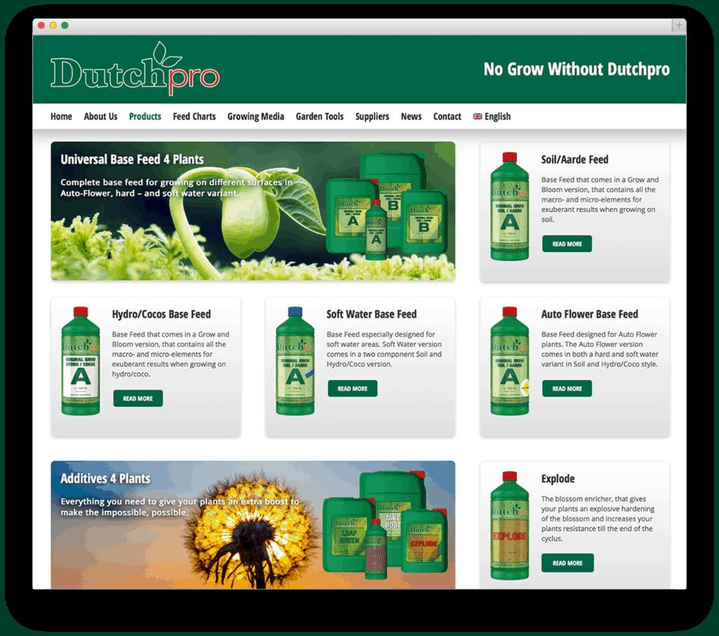 Dutchpro Complete Fertilizers website voorbeeld