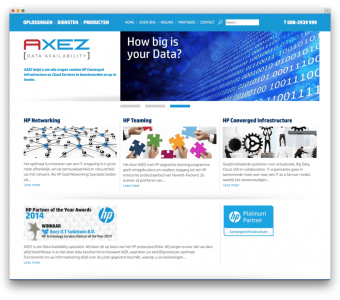 Axez Data Availability website voorbeeld