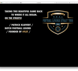 FLST / Football Legends Street Tour website voorbeeld
