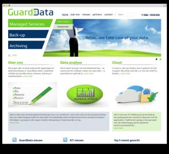 Guarddata Online opslag website voorbeeld