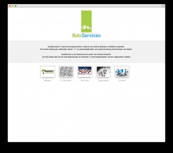 NutsServices B.V. website voorbeeld