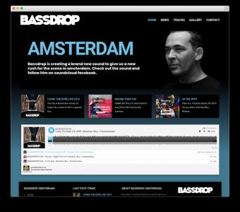 Bassdrop Amsterdam website voorbeeld
