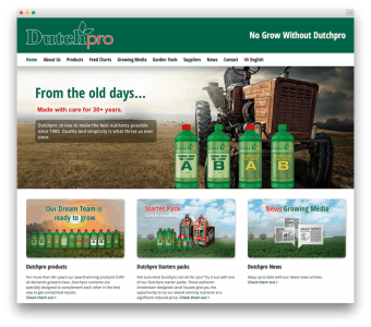 Dutchpro Complete Fertilizers website voorbeeld