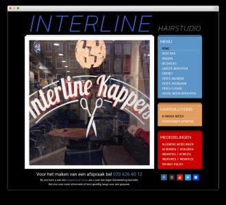 Interline Hairstudio website voorbeeld