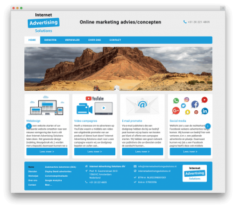 Internet Advertising Solutions BV website voorbeeld