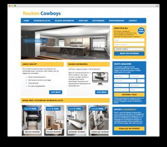 Keuken Cowboys website voorbeeld