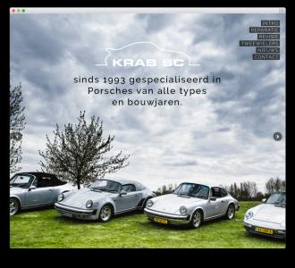 Krab SC website voorbeeld