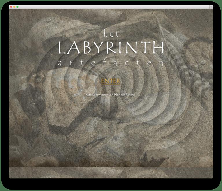 Het Labyrinth website voorbeeld