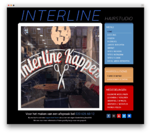 Interline Hairstudio website voorbeeld