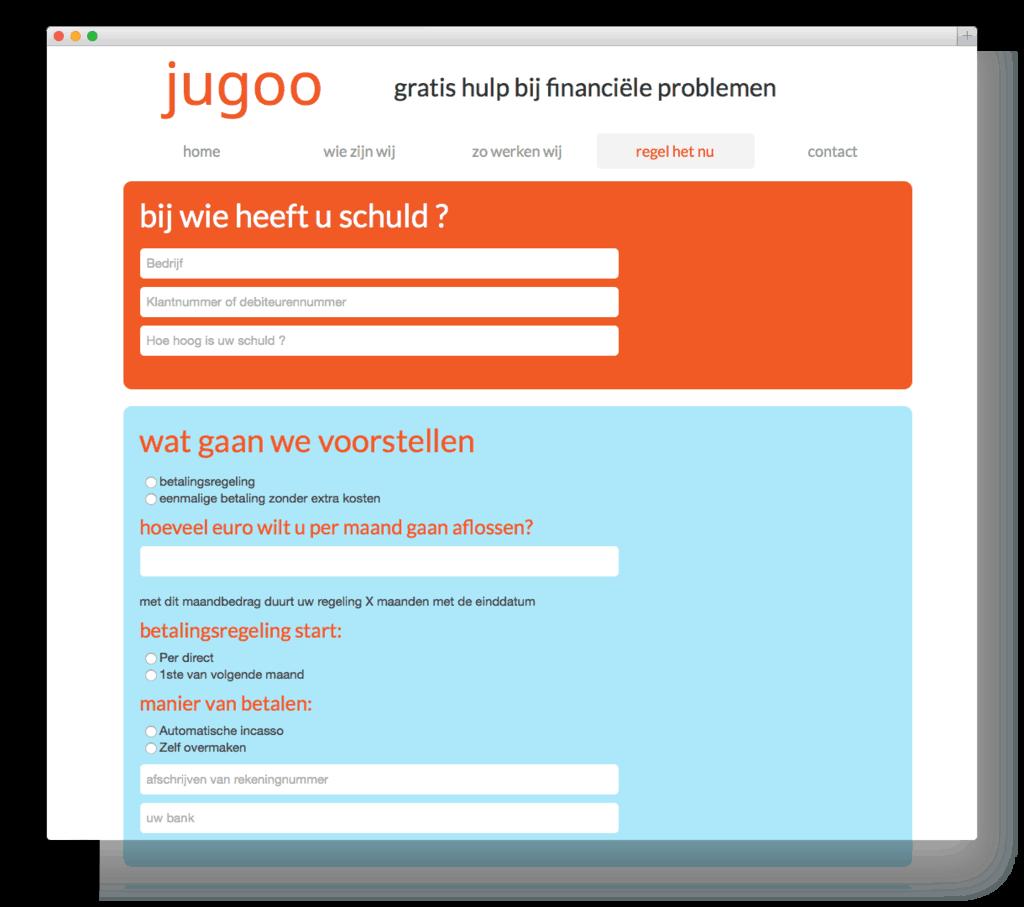 Jugoo website voorbeeld