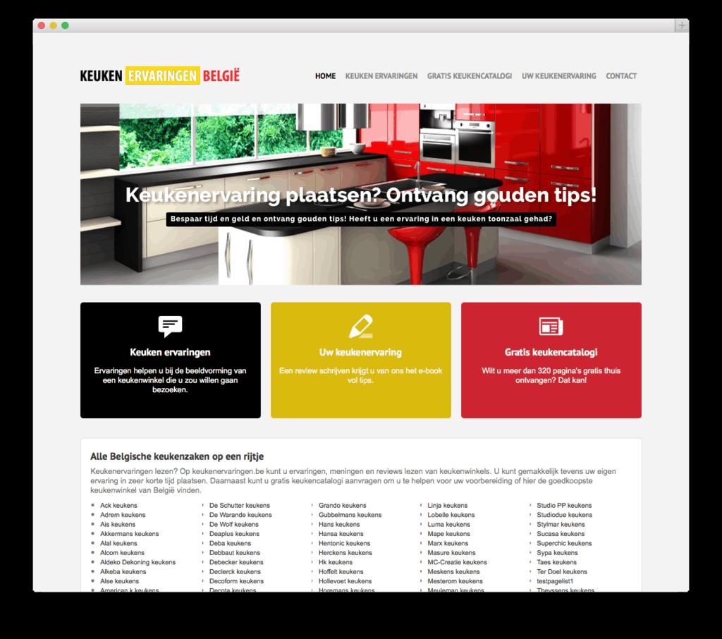 Keukenervaringen website voorbeeld