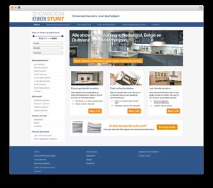 Showroom Keukenstunt website voorbeeld