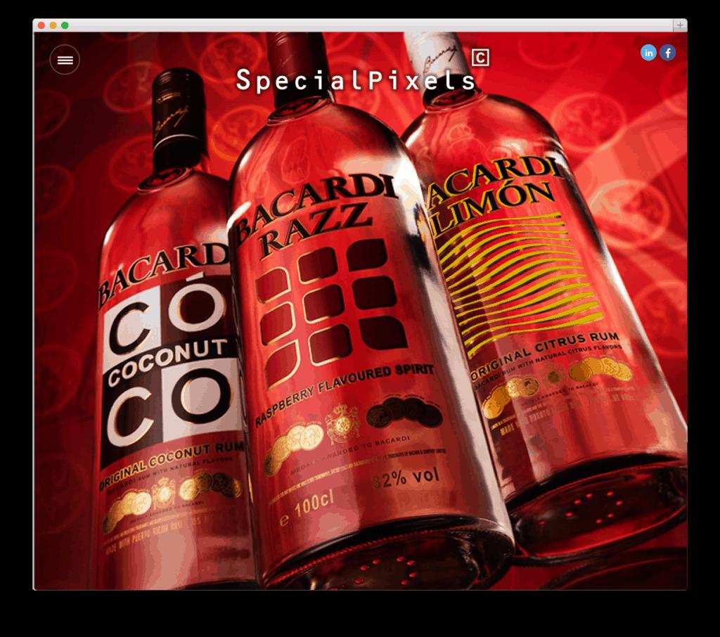 Special Pixels website voorbeeld