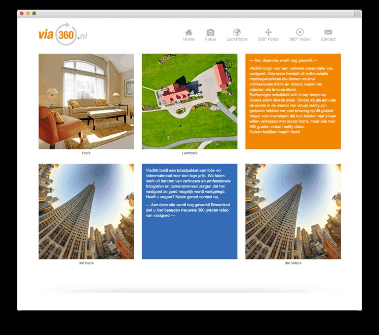 via360 website voorbeeld