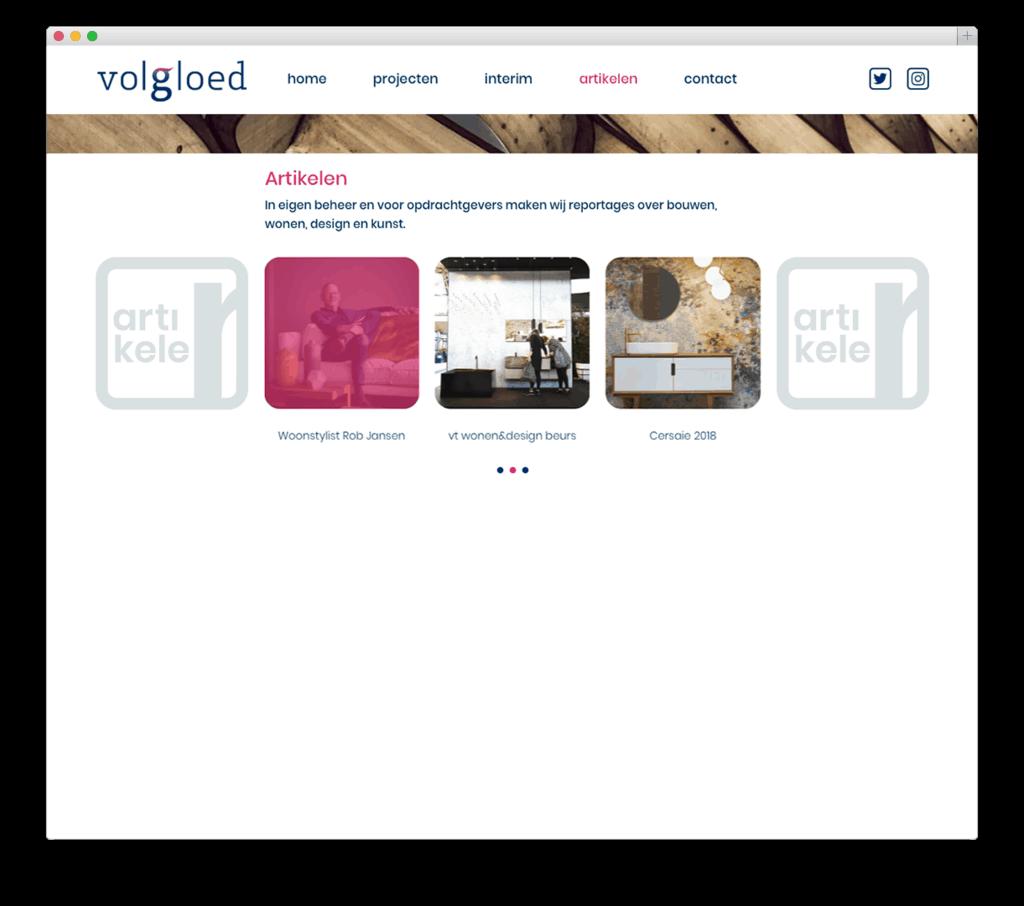 Volgloed website voorbeeld
